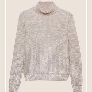 NWT Armani Exchange Foil Coated Turtleneck Sweater